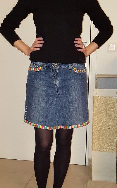 jupe en jean DIY