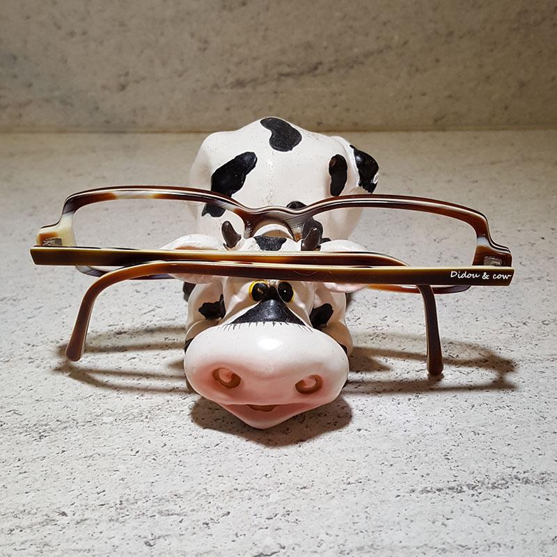 lunettes sur un support vache