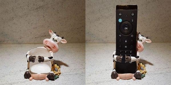 Porte-télécommande vache, vide et avec télécommande