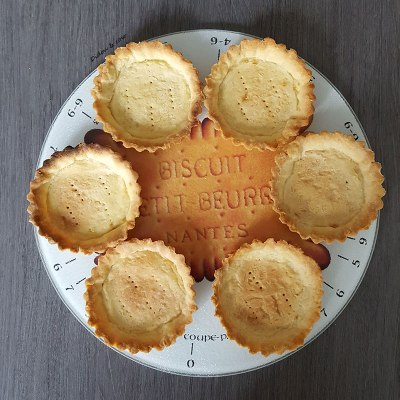 Fonds de tartes cuits avant garnissage